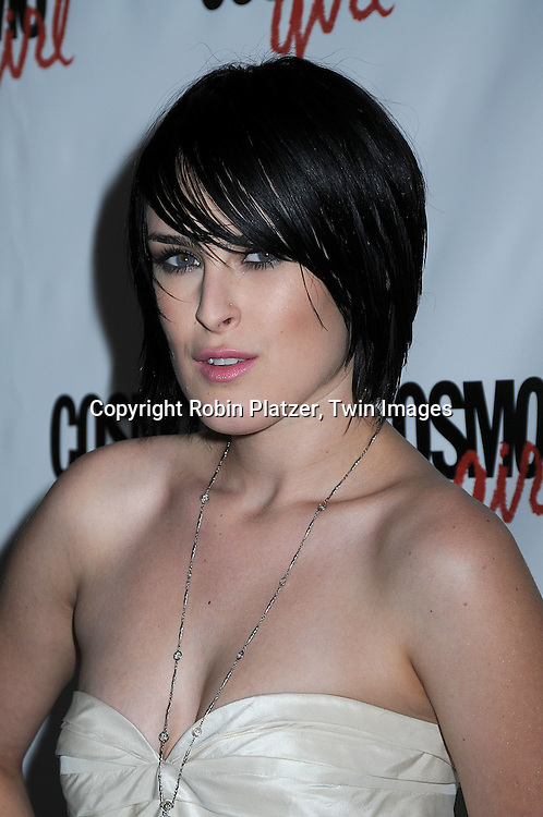 "actress Rumer Willis in Port 61 dress..posing for photographers at a special screening of ""The Bunny House"" hosted by CosmoGirl, Columbia Pictures and the cast of the movie on August 18, 2008 at the Hearst Tower. ....Robin Platzer, Twin Images"