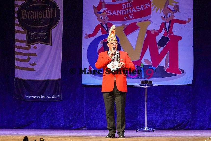 Sitzungspräsident Klaus Huber - Mörfelden-Walldorf 15.11.2019: Eröffnungssitzung der Sandhasen