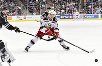 HERSHEY, PA - JANUARY 05: Grand Rapids Griffins right wing Matt Puempel (73) skates to a rolling puck during the Grand Rapids Griffins vs. Hershey Bears AHL game at the Giant Center in Hershey, PA. (Photo by Randy Litzinger/Icon Sportswire)