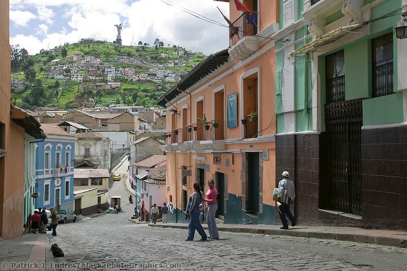 El Panecillo, The little bread loaf hill in old town Quito, Ecuador