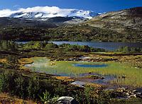 Norwegen, Oppland, See Breiddalsvatnet und Gletscher Sandabreen, Teil des Gletschers Jostedalsbreen | Norway, Oppland, Lake Breiddalsvatnet and glacier Sandabreen, part of glacier Jostedalsbreen
