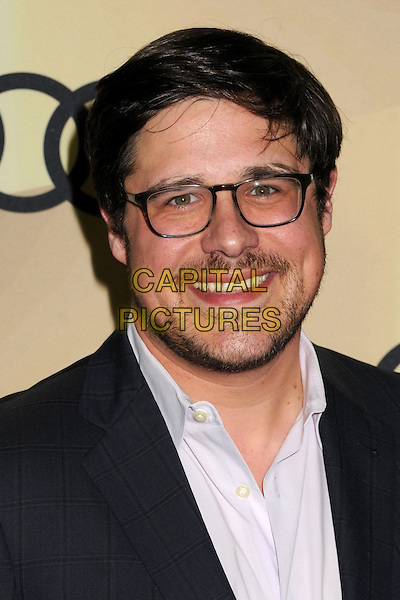 Rich Sommer.Audi Hosts Star-Studded Event to Celebrate the 70th Golden Globe Awards held at Cecconi's, West Hollywood, California, USA..January 6th, 2013.headshot portrait stubble facial hair suit white shirt glasses black .CAP/ADM/BP.©Byron Purvis/AdMedia/Capital Pictures.