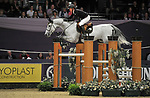 "Peter Maloney (IRL) riding ""Compelling Z"". International showjumping. Grandstand five fence challenge. Horse of the year show (HOYS). National Exhibition Centre (NEC). Birmingham. UK. 05/10/2018. ~ MANDATORY CREDIT Garry Bowden/SIPPA - NO UNAUTHORISED USE - +44 7837 394578"