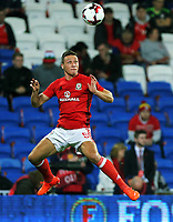 James Chester of Wales practices headers during the FIFA World Cup Qualifier Group D match between Wales and Republic of Ireland at The Cardiff City Stadium, Wales, UK. Monday 09 October 2017