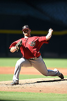 Arizona Diamondbacks pitcher Cody Reed (53) during an Instructional League game against the Oakland Athletics on October 10, 2014 at Chase Field in Phoenix, Arizona.  (Mike Janes/Four Seam Images)