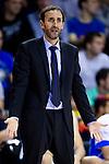 Gipuzkoa Basket Club's coach Sito Alonso during Liga Endesa ACB 2013-2014 match against FC Barcelona. November 3, 2013. (ALTERPHOTOS/Alex Caparros)
