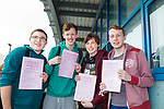 Tom Moriarty, Gavin Kennedy, Cillian O'Regan and Cathal Egan students from Mercy Mounthawk Secondary School, relieved that their first Leaving Cert exam, English Higher Level Paper 1, is over with on Wednesday afternoon.