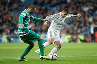 Real Madrid´s Chicharito (R) during Spanish King Cup match between Real Madrid and Cornella at Santiago Bernabeu stadium in Madrid, Spain.December 2, 2014. (NortePhoto/ALTERPHOTOS/Victor Blanco)