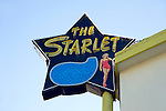 The Starlet apartment sign in Burbank, CA
