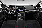 Stock photo of straight dashboard view of 2018 Nissan Maxima SR 4 Door Sedan Dashboard