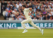 7th September 2017, Lords Cricket Ground, London, England; International Test Match Series, Third Test, Day 1; England versus West Indies; England Bowler James Anderson runs up to bowl