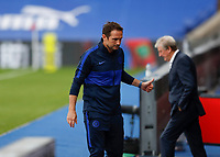 7th July 2020; Selhurst Park, London, England; English Premier League Football, Crystal Palace versus Chelsea; Chelsea Manager Frank Lampard giving the thumbs up from the dugout