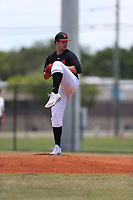 Victor Mederos (69) of Pace High School in Miami, Florida during the Under Armour Baseball Factory National Showcase, Florida, presented by Baseball Factory on June 13, 2018 the Joe DiMaggio Sports Complex in Clearwater, Florida.  (Nathan Ray/Four Seam Images)