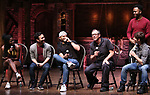 "Johanna Moise, Marc delaCruz, Terrance Spencer, Eric Castaldo, Deon'te Goodman and Thayne Jasperson  during the Q & A before The Rockefeller Foundation and The Gilder Lehrman Institute of American History sponsored High School student #EduHam matinee performance of ""Hamilton"" at the Richard Rodgers Theatre on 5/22/2019 in New York City."