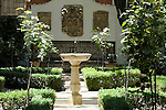 A fountain in the garden of the Sorolla Museum in Madrid, Spain.