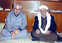 Iraq 1991.Failak Eddine Kakai with Sheikh Sani Katchi Irani, Kadiri brotherhood  Irak 1991. Failak Eddine Kakai avec sheikh Sani Katchi Irani, de la confrérie Kadiri