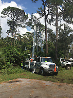 2017 FPL Hurricane Irma restoration in Manatee, Fla. on September 15, 2017.