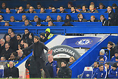 10th January 2018, Stamford Bridge, London, England; Carabao Cup football, semi final, 1st leg, Chelsea versus Arsenal; Arsenal Manager Arsene Wenger looks on satisfied in the stands as his team hold Chelsea to a home draw
