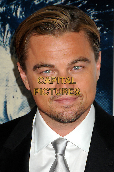 "Leonardo DiCaprio.AFI Fest 2011 Opening Night Gala Premiere of ""J. Edgar"" held at Grauman's Chinese Theatre, Hollywood, California, USA..November 3rd, 2011.headshot portrait stubble facial hair black suit white shirt silver tie .CAP/ADM/BP.©Byron Purvis/AdMedia/Capital Pictures."