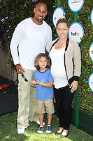 WEST HOLLYWOOD, CA, USA - APRIL 05: Hank Baskett, Hank Baskett Jr., Kendra Wilkinson at the Safe Kids Day Event 2014 -  Los Angeles held at The Lot on April 5, 2014 in West Hollywood, California, United States. (Photo by Celebrity Monitor)