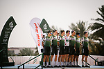 Caja Rural-Seguros RGA before the start of Stage 5 of the Saudi Tour 2020 running 144km from Princess Nourah University to Al Masmak, Saudi Arabia. 8th February 2020. <br /> Picture: ASO/Pauline Ballet   Cyclefile<br /> All photos usage must carry mandatory copyright credit (© Cyclefile   ASO/Pauline Ballet)