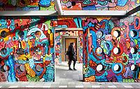 Nederland Amsterdam 2017 . De Bijlmer. Muurschildering in de H Buurt.   Foto Berlinda van Dam / Hollandse Hoogt