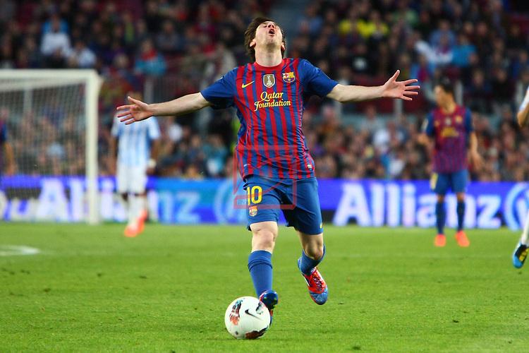 Lionel Messi. FC Barcelona vs Malaga CF: 4-1 - League BBVA 2011/12 - Game: 20.