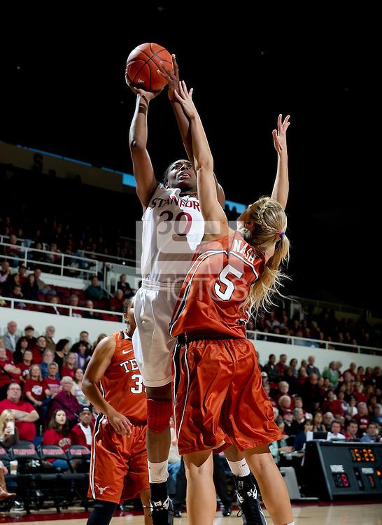 STANFORD CA-NOVEMBER 28, 2010: Nnemkadi Ogwumike during the Stanford 93-78 win over Texas in Stanford, California.