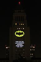 Bat Signal Lighting Ceremony to honor Adam West