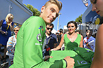 Marcel Kittel (GER) Quick-Step Floors retains the Green Jersey at the end of Stage 16 of the 104th edition of the Tour de France 2017, running 165km from Le Puy-en-Velay to Romans-sur-Isere, France. 18th July 2017.<br /> Picture: ASO/Bruno Bade | Cyclefile<br /> <br /> <br /> All photos usage must carry mandatory copyright credit (&copy; Cyclefile | ASO/Bruno Bade)