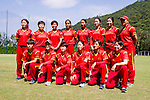 Players of China pose for photos during their ICC 2016 Women's World Cup Asia Qualifier match between China and Hong Kong on 10 October 2016 at the Hong Kong Cricket Club in Hong Kong, China. Photo by Victor Fraile / Power Sport Images