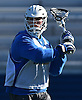 Ryan Tierney #43 of Hofstra University makes a pass during a scrimmage against Hobart College at Hofstra University on Saturday, Feb. 4, 2017.