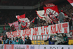 30.11.2019, RheinEnergieStadion, Koeln, GER, 1. FBL, 1.FC Koeln vs. FC Augsburg,<br />  <br /> DFL regulations prohibit any use of photographs as image sequences and/or quasi-video<br /> <br /> im Bild / picture shows: <br /> Banner die Koelner Fans wuenschen sich Poldi zurück <br /> <br /> Foto © nordphoto / Meuter