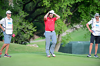 A dejected Jon Rahm (ESP) after losing to Dustin Johnson (USA) on the final hole of round 7 of the World Golf Championships, Dell Technologies Match Play, Austin Country Club, Austin, Texas, USA. 3/26/2017.<br /> Picture: Golffile | Ken Murray<br /> <br /> <br /> All photo usage must carry mandatory copyright credit (&copy; Golffile | Ken Murray)
