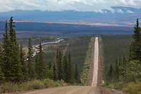 Gravel surface of the James Dalton Highway, commonly called the Haul Road, Trans Alaska oil pipeline, Alaska.