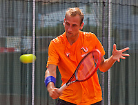 Austria, Kitzbuhel, Juli 14, 2015, Tennis, Davis Cup, Training Dutch team, Thiemo de Bakker <br /> Photo: Tennisimages/Henk Koster