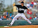 1 March 2009: Florida Marlins' pitcher Aaron Thompson on the mound during a Spring Training game against the St. Louis Cardinals at Roger Dean Stadium in Jupiter, Florida. The Cardinals outhit the Marlins 20-13 resulting in a 14-10 win for the Cards. Mandatory Photo Credit: Ed Wolfstein Photo