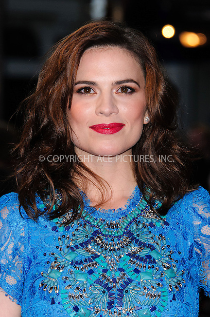 WWW.ACEPIXS.COM....US Sales Only....September 3 2012, London....Hayley Atwell at the premiere of 'The Sweeney' on September 3 2012  in London......By Line: Famous/ACE Pictures......ACE Pictures, Inc...tel: 646 769 0430..Email: info@acepixs.com..www.acepixs.com