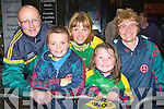 Darragh, Darren, Marie and Caoimhe Lehane with Mary O'Donoghue Kilcummin who welcomed home the Kerry team to Killarney on Monday night..