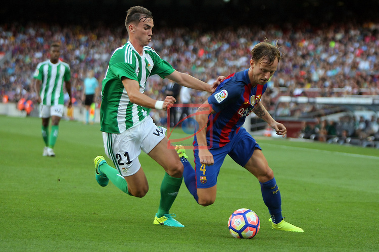 League Santander 2016/2017. Game: 1.<br /> FC Barcelona vs Real Betis: 6-2.<br /> Fabian vs Ivan Rakitic.