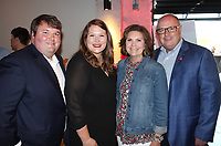 NWA Democrat-Gazette/CARIN SCHOPPMEYER Cody and Emily Mathews (from left) and Vickie and Bill Mathews help support Ronald McDonald House Charities at the Red Shoe Soiree on April 26 at Record in Bentonville.