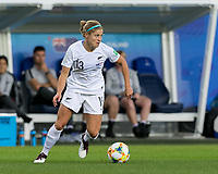 GRENOBLE, FRANCE - JUNE 15: Rosie White #13 of the New Zealand National Team looks to pass during a game between New Zealand and Canada at Stade des Alpes on June 15, 2019 in Grenoble, France.
