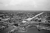 New Orleans, Louisiana.USA.July 31, 2006..The Army Corp of Engineers rebuild the levees at the 17th Street Canal. This district was heavily damaged one year earlier when hurricane Katrina hit breaking the levees and leaving 80% of the city flooded. .
