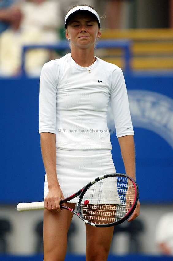 Photograph: Scott Heavey..Hastings Direct International Championships at Eastbourne. 19/06/2003..Daniela Hantuchova