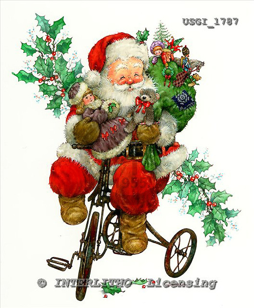 GIORDANO, CHRISTMAS SANTA, SNOWMAN, WEIHNACHTSMÄNNER, SCHNEEMÄNNER, PAPÁ NOEL, MUÑECOS DE NIEVE, paintings+++++,USGI1787,#X# stickers