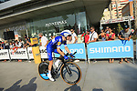 Dries Devenyns (BEL) Quick-Step Floors during Stage 1 of the La Vuelta 2018, an individual time trial of 8km running around Malaga city centre, Spain. 25th August 2018.<br /> Picture: Ann Clarke | Cyclefile<br /> <br /> <br /> All photos usage must carry mandatory copyright credit (© Cyclefile | Ann Clarke)