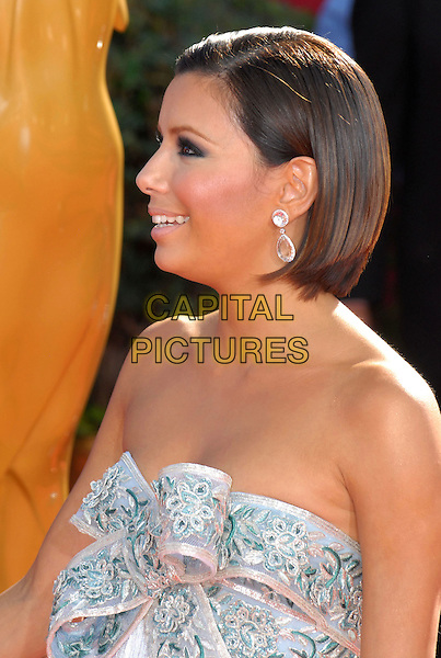 EVA LONGORIA .60th Annual Primetime Emmy Awards held at the Nokia Theatre,  Los Angeles, California, USA, 21 September 2008..emmys portrait headshot bob hair profile strapless bow.CAP/ADM/`CH.©Charles Harris/Admedia/Capital PIctures