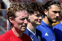 Scotland U21 Manager, Scot Gemmill stands alongside Oliver Burke during Turkey Under-21 vs Scotland Under-21, Tournoi Maurice Revello Football at Stade Francis Turcan on 9th June 2018
