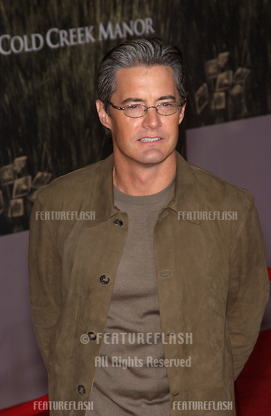 KYLE MacLACHLAN at the world premiere, in Hollywood, of Cold Creek Manor..Sept 17, 2003