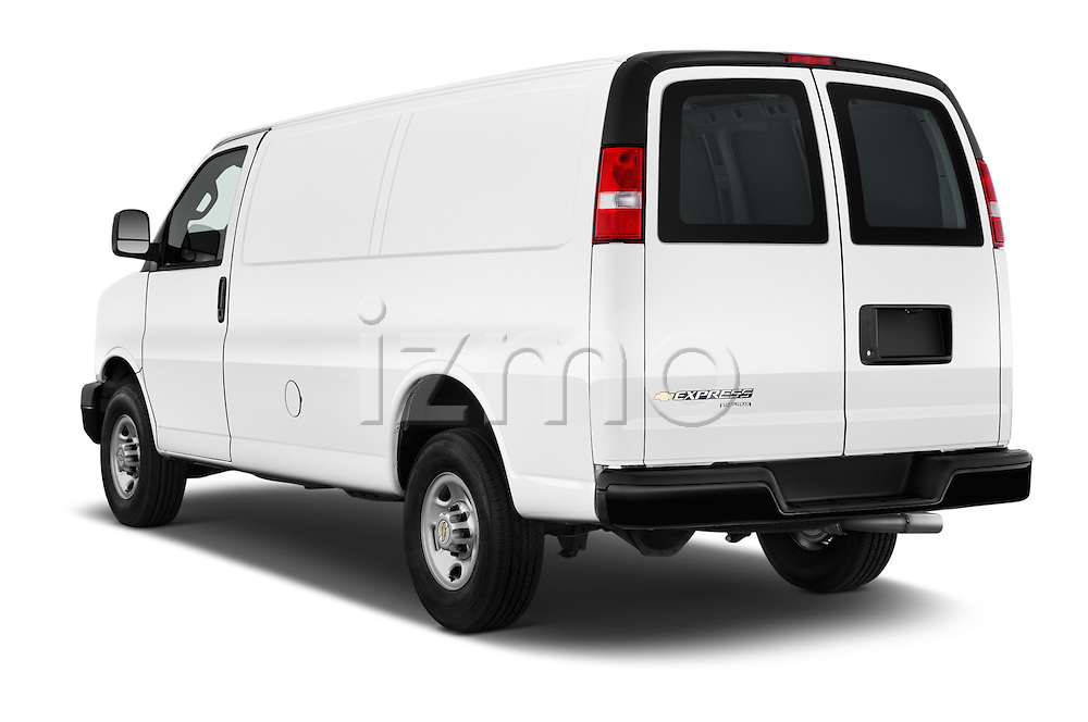 Car pictures of rear three quarter view of 2016 Chevrolet Express-Cargo 2500-Work-Van-HD 4 Door Cargo Van Angular Rear